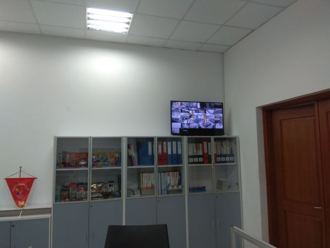 CCTV Display in Office