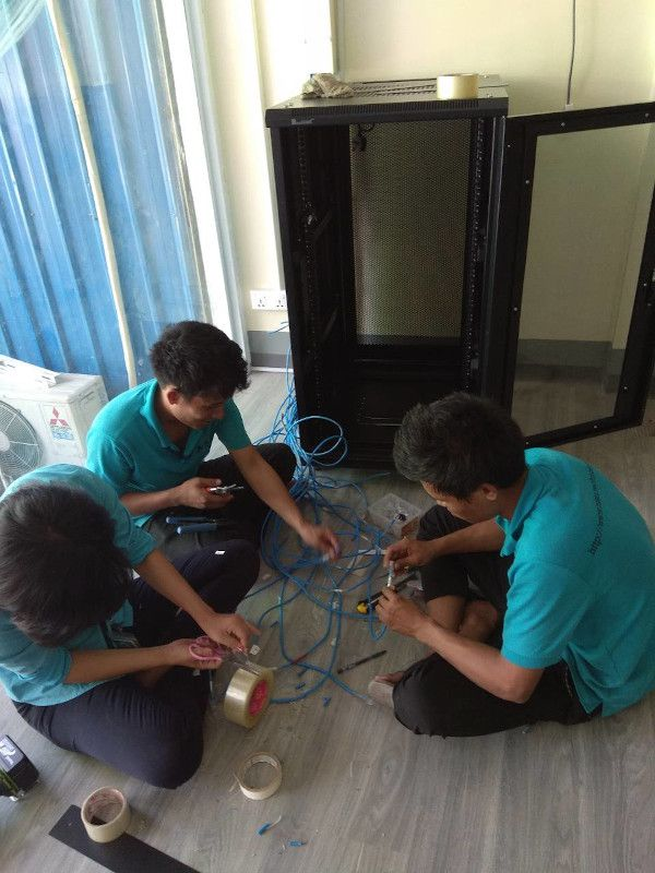 Network Cable Deployment at Lwin Oo Htwe Trading